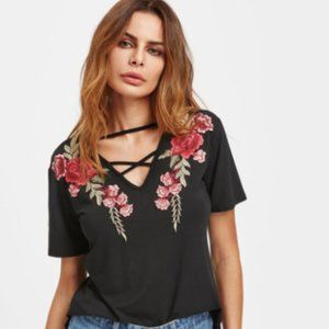 Strappy Rose Shirt